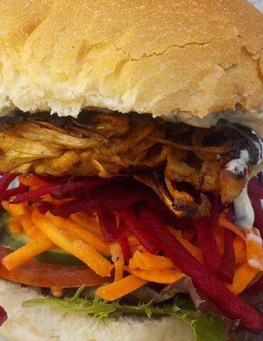 Masons jackfruit burger